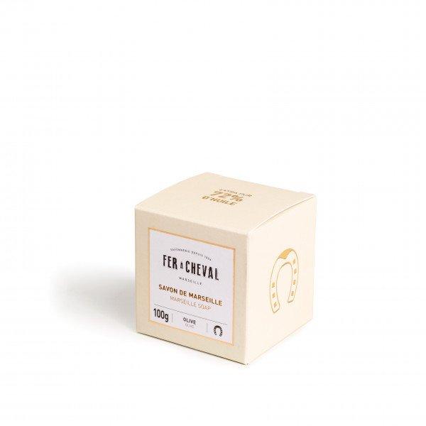 Savon de Marseille Cube Olive 100g Fer à Cheval