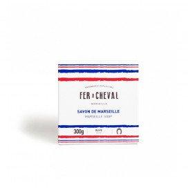 Savon de Marseille Cube Olive 300g Bleu Blanc Rouge