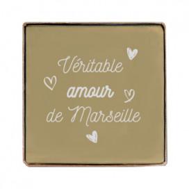 Cube savon de Marseille 100g personnalisé