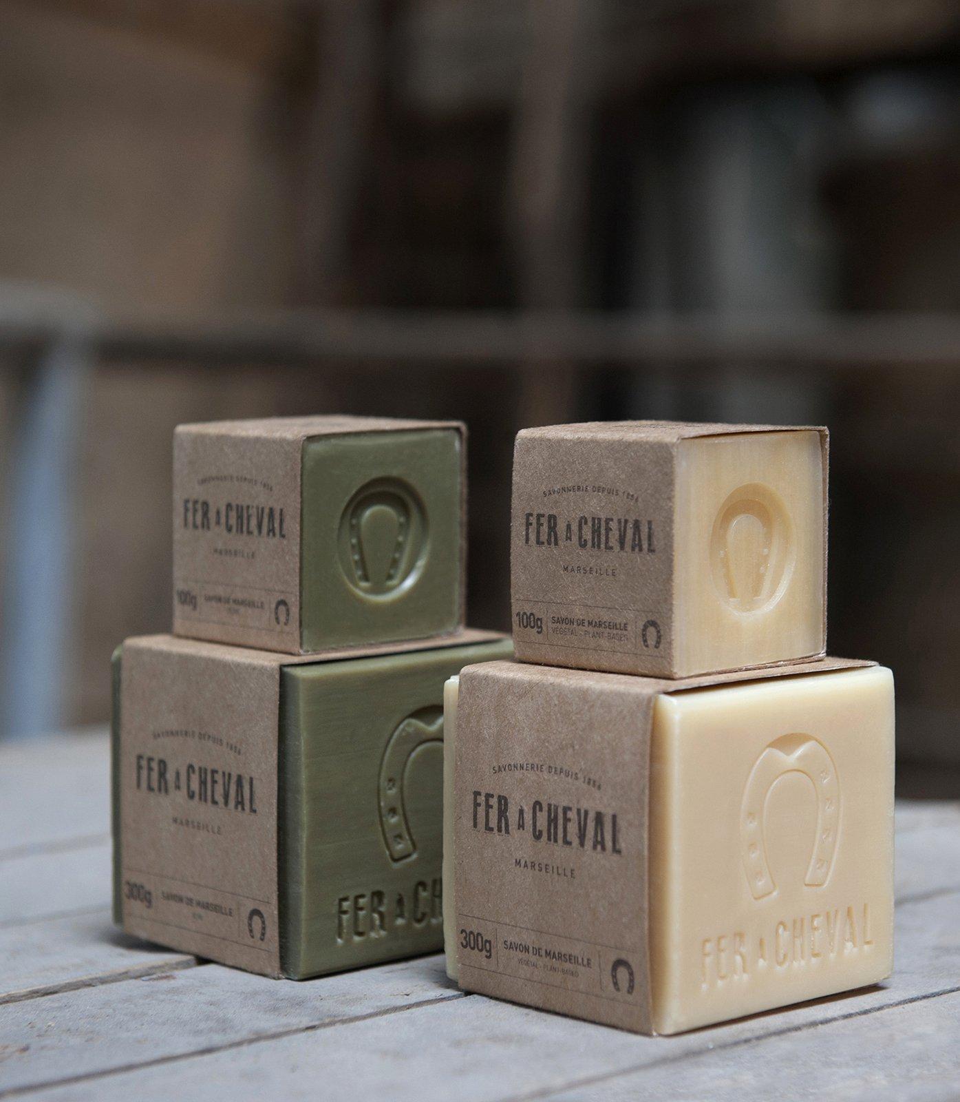 Formats de l'authentique savon de Marseille