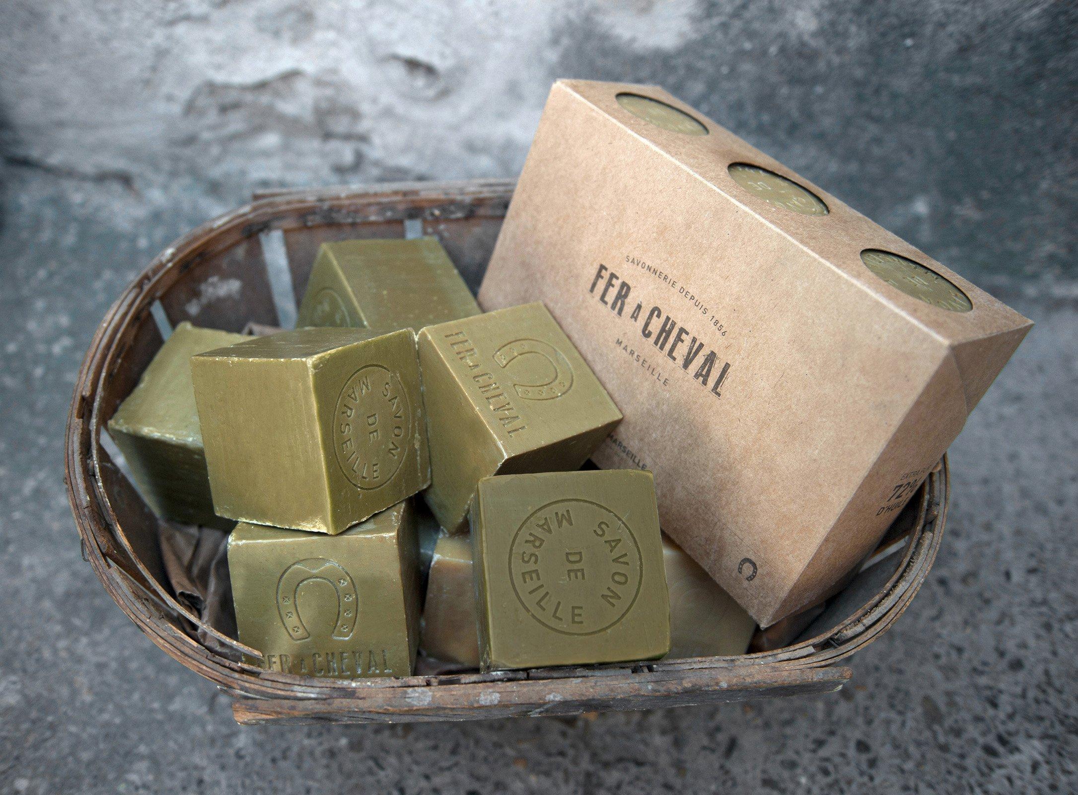 Authentique savon de Marseille à l'huile d'olive