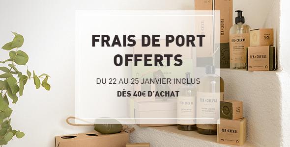 Frais de port offerts dès 40€ d'achat !